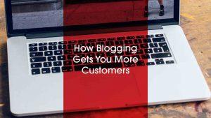 Macbook on worktop with blog title