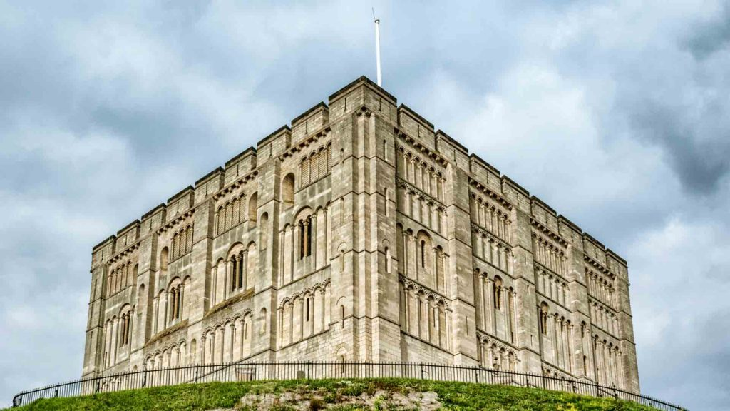 Norwich Castle on a hill