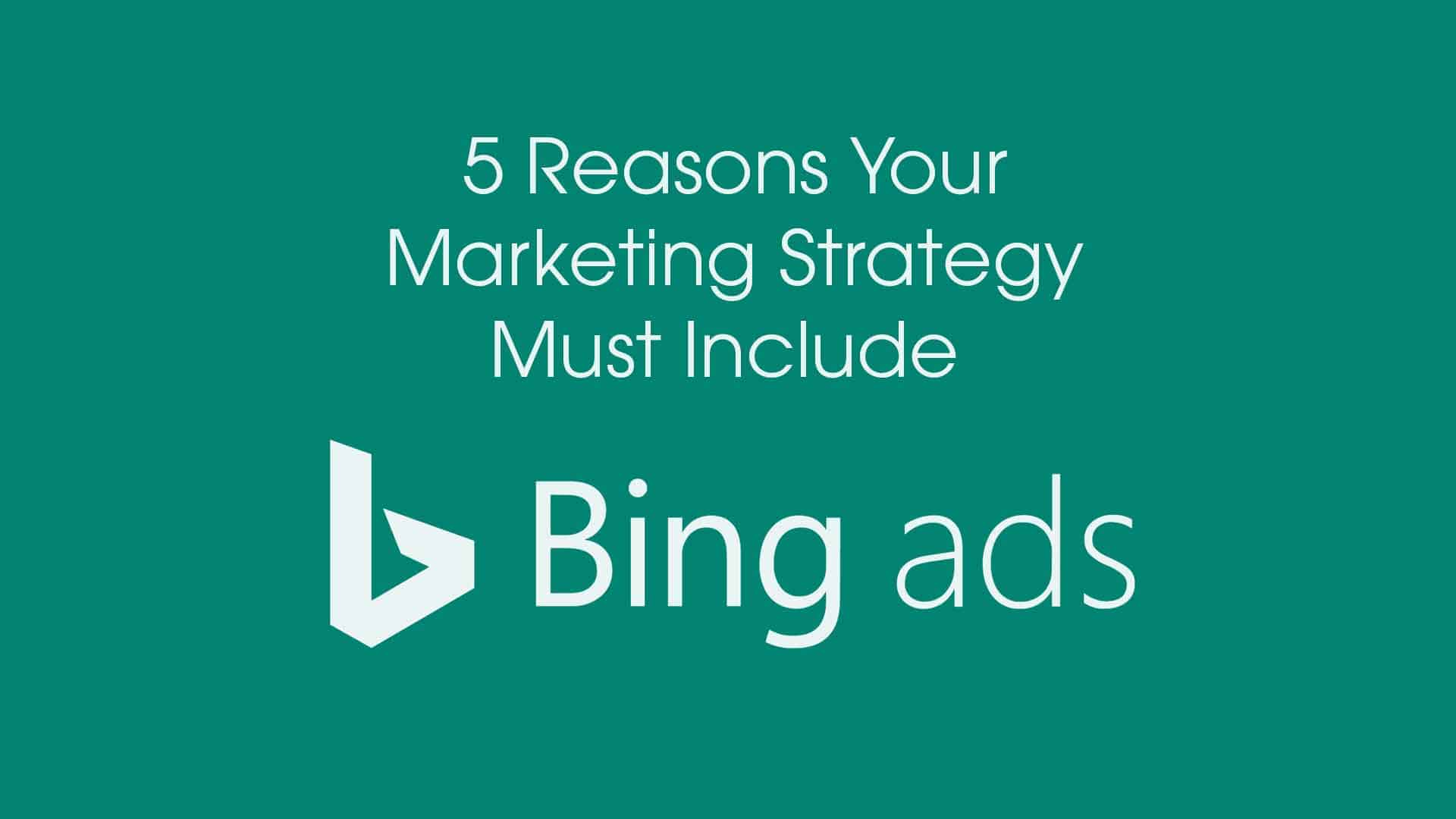 Bing ads logo and blog title