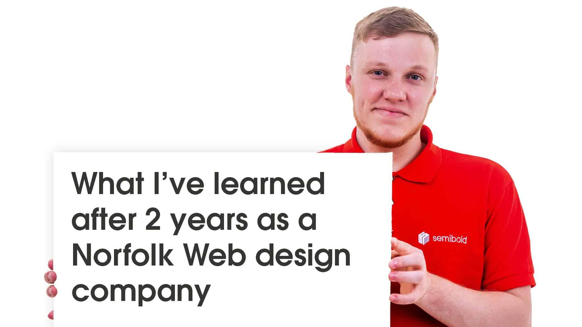Norfolk Web Design Company Learnings