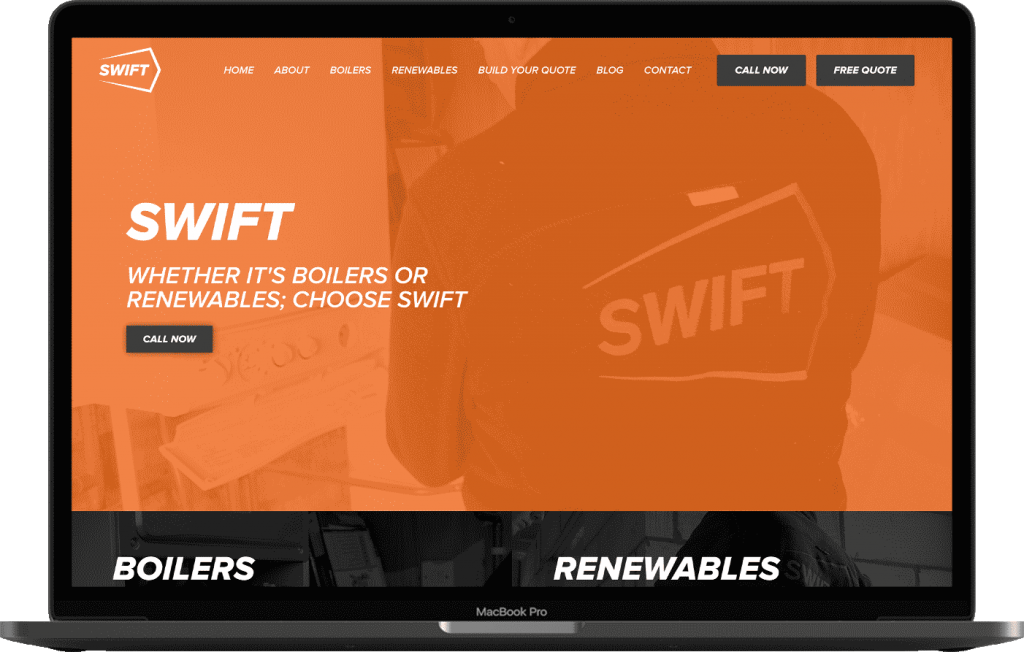 Norfolk Web Design Swift Boilers Website