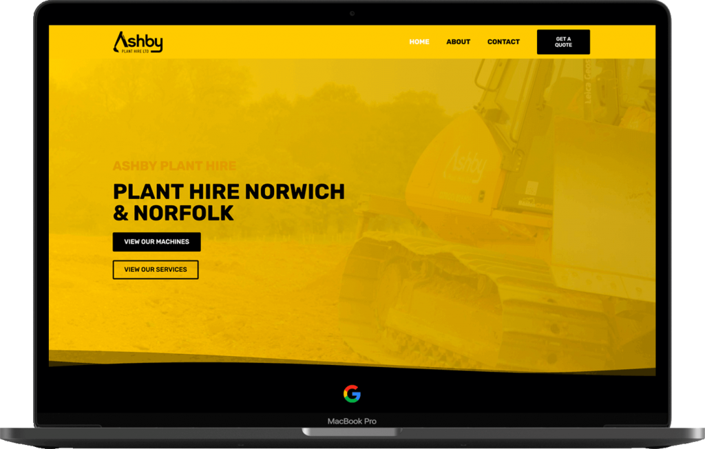 Ashby Plant Hire Norfolk Web Design