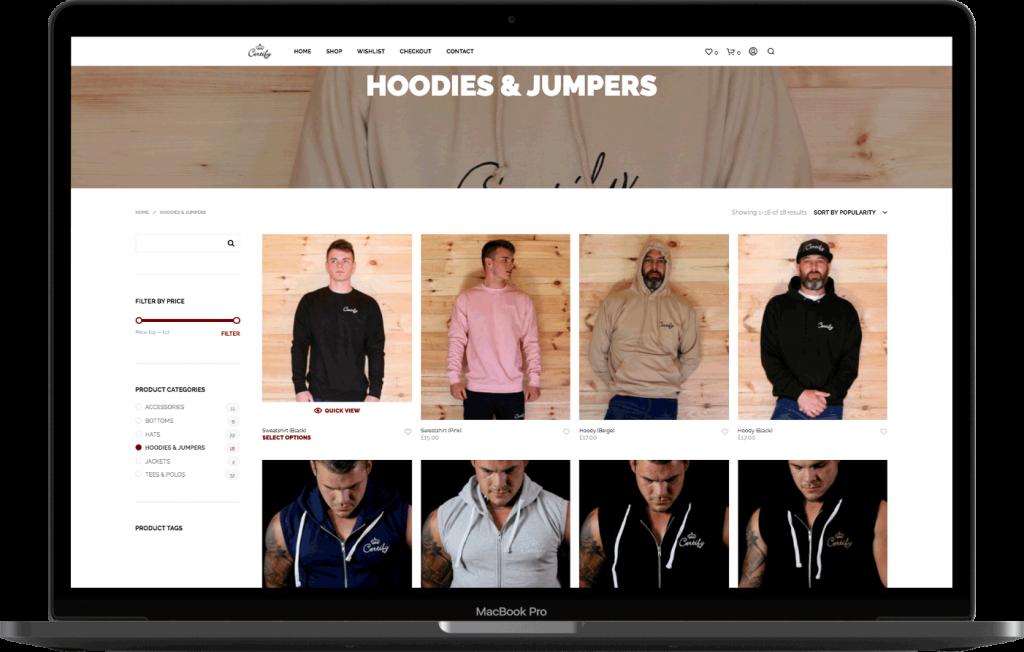 Certify Clothing Norfolk Web Design