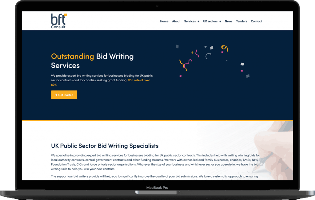BFT Consult Website Design Mockup